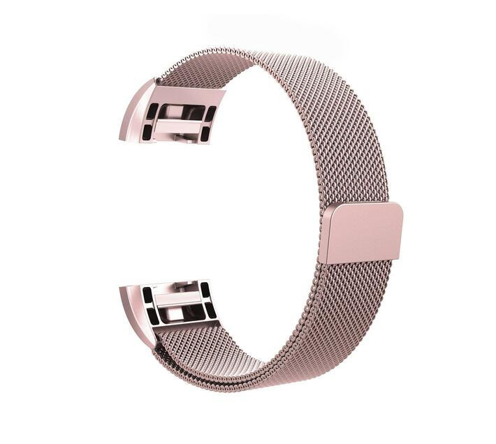 Linxure Milanese Strap for Fitbit Charge 2 Rose Gold - Small