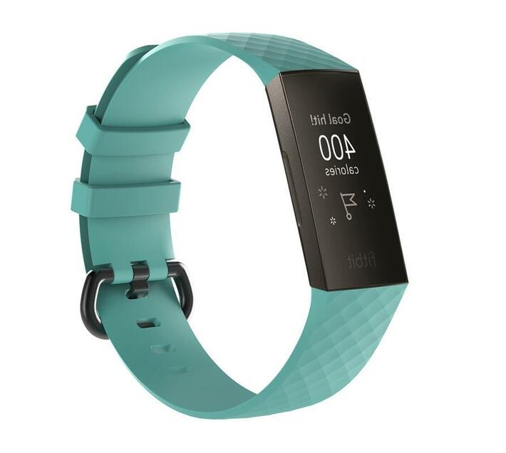 MDM Electron Large Fitbit Charge 3 Silicone Strap-Teal