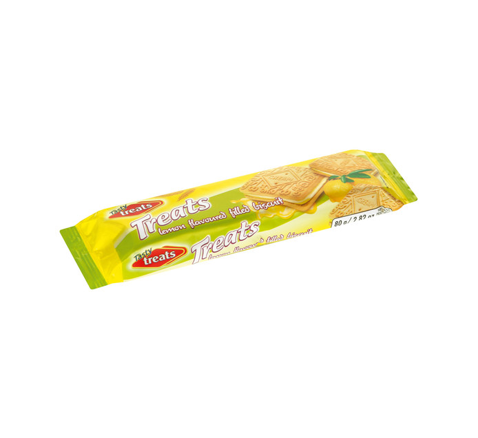 Tasty Treats Cream Biscuits Lemon (1 x 80g)