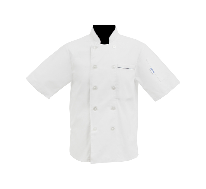 Bakers & Chefs Medium Short Sleeve Chef Jacket White