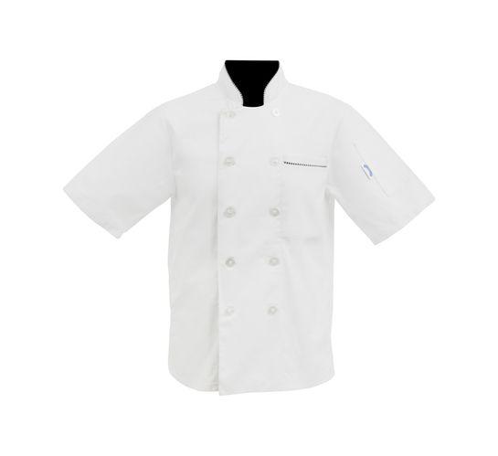 Bakers & Chefs Medium Short Sleeve Chef Jacket White