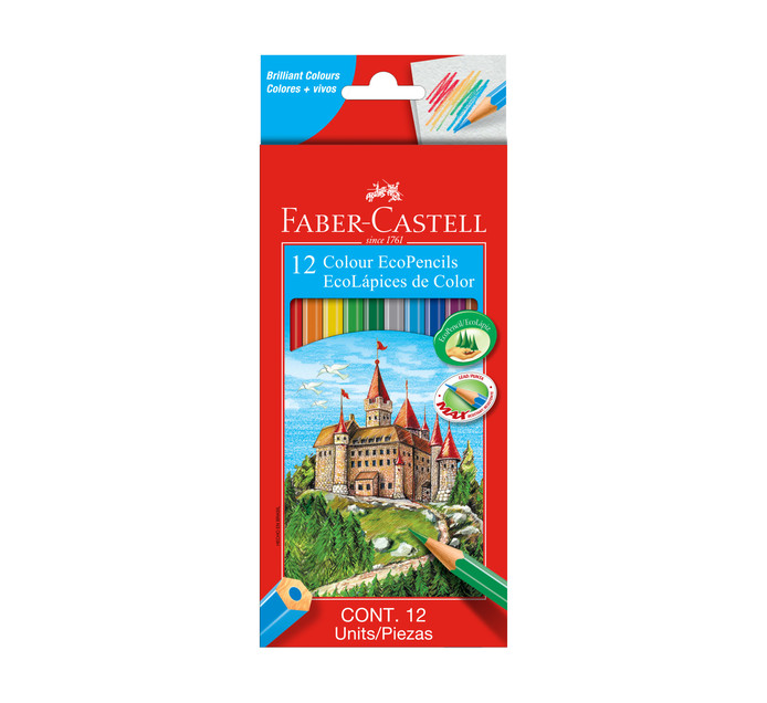 Faber Castell Eco Colour Pencils 12-Pack Assorted