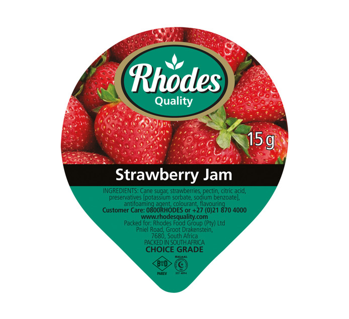 Rhodes Jam Portions Strawberry (200 x 15g)