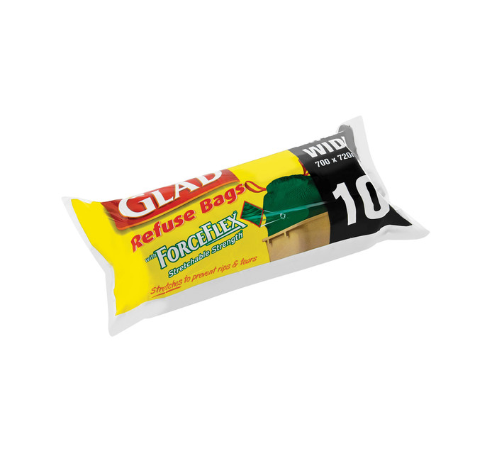 Glad Force Flex Refuse Bags Outdoor (1 x 10's)