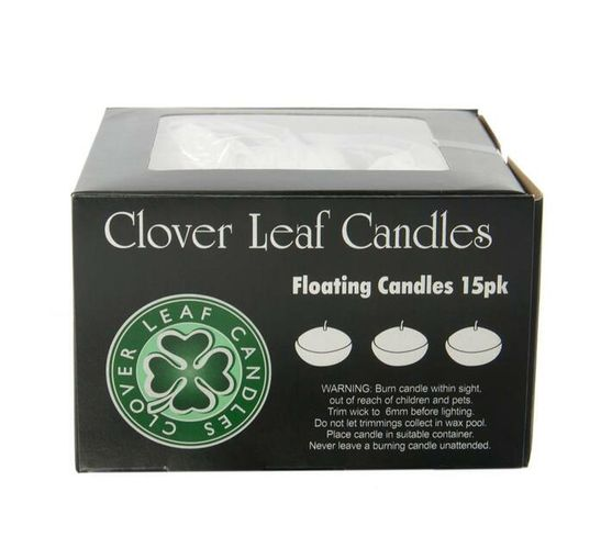 5x3cm Floating Candles 15pk