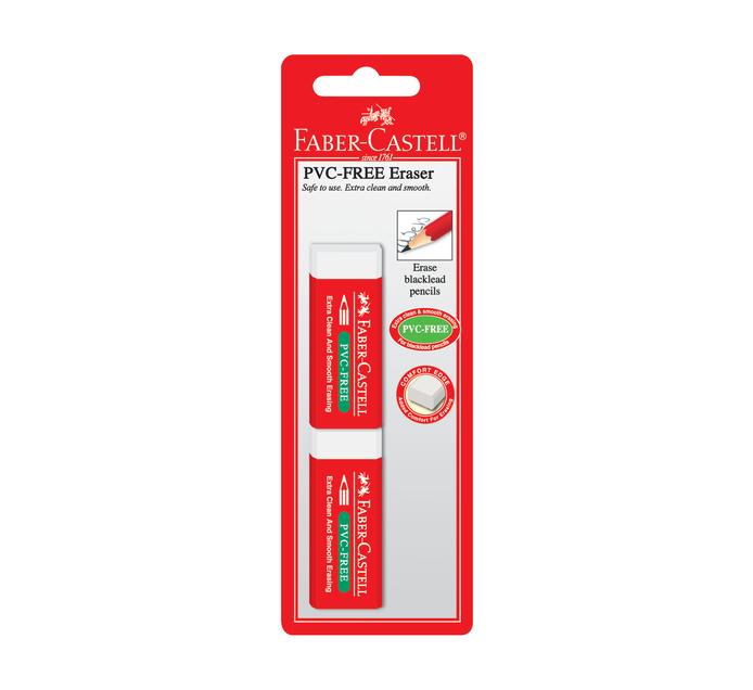 Faber Castell PVC Eraser 2 Pack