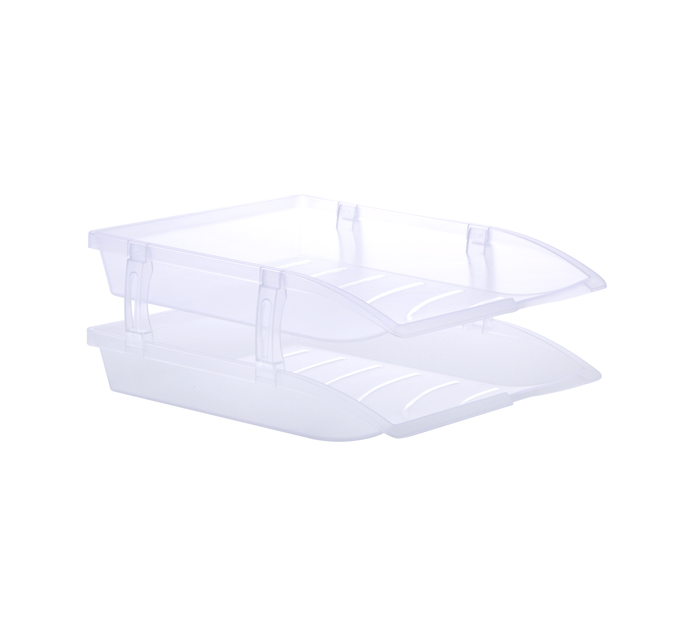 Bantex Optima 2-Tier Letter Tray Clear