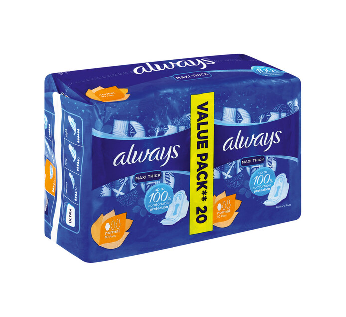 Always Maxi Duo Sanitary Pads Normal (1 x 20's)