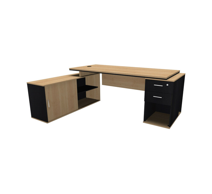Elite Platinum Exec L Combo Desk