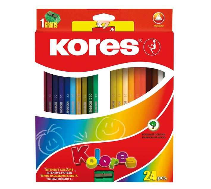Kores colouring pencils 24`s
