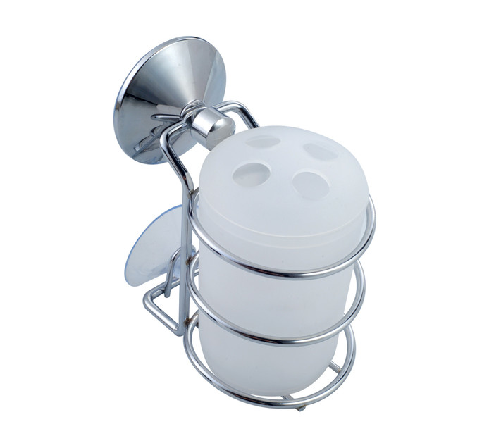 Wildberry Chrome Suction Toothbrush Holder