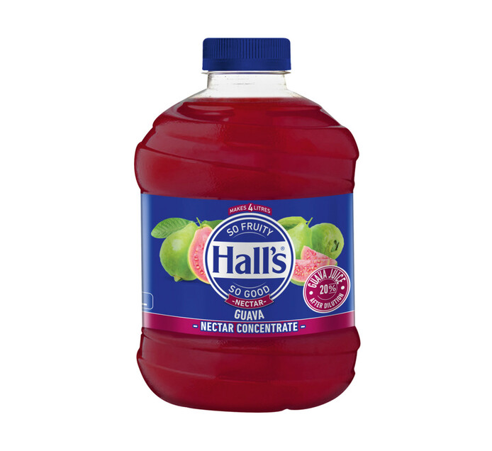 Halls Fruit Juice Guava (1 x 1L)