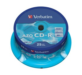 VERBATIM 700 MB CD-R Spindle (25 Pack)