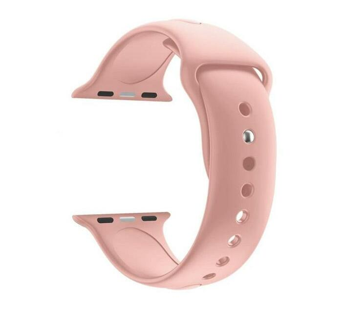 Zonabel 42mm Apple Watch Silicone Strap - Dusty Pink Sand