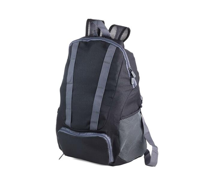 Troika Foldable Backpack 12 Litre Black/Grey