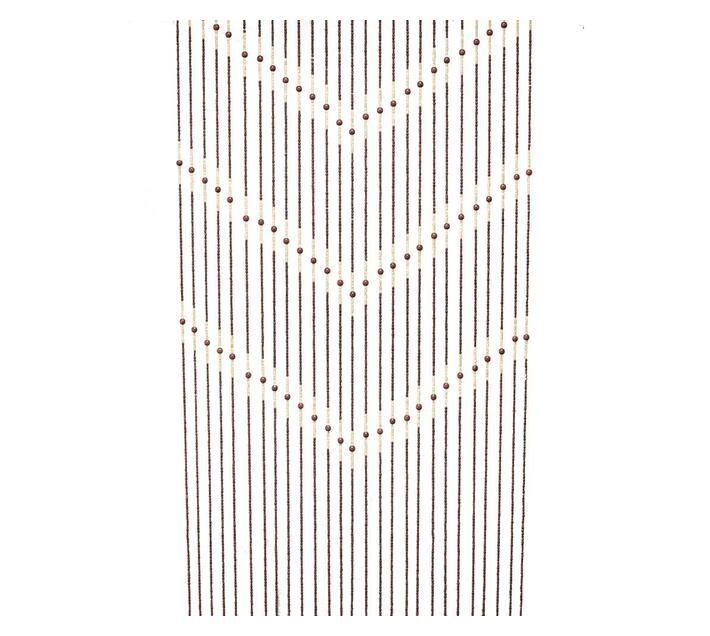 Decor Depot Wooden Bead Door Curtain Brown 900mm(w) x 1800mm(h)