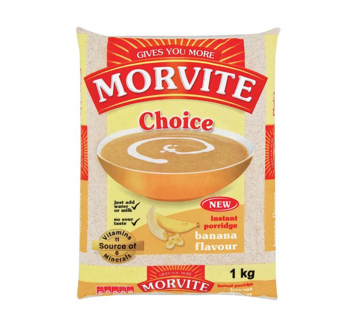 Morvite Choice Instant Porridge Banana (1 x 1kg)