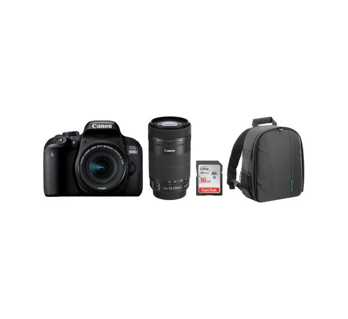 Canon 800D DSLR Twin Lens Camera Bundle