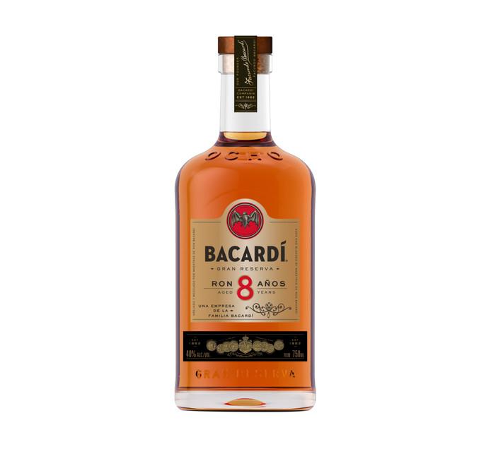 Bacardi 8 YO Premium Imported Rum (1 x 750ml)