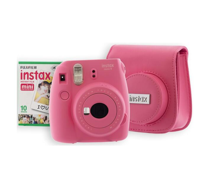 INSTAX Mini 9 Kit 1 Flamingo Pink (camera, bag, film)