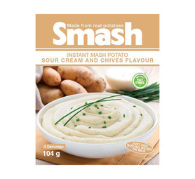 SMASH Instant Mash Potato Sour Cream & Chive (10 x 104g)