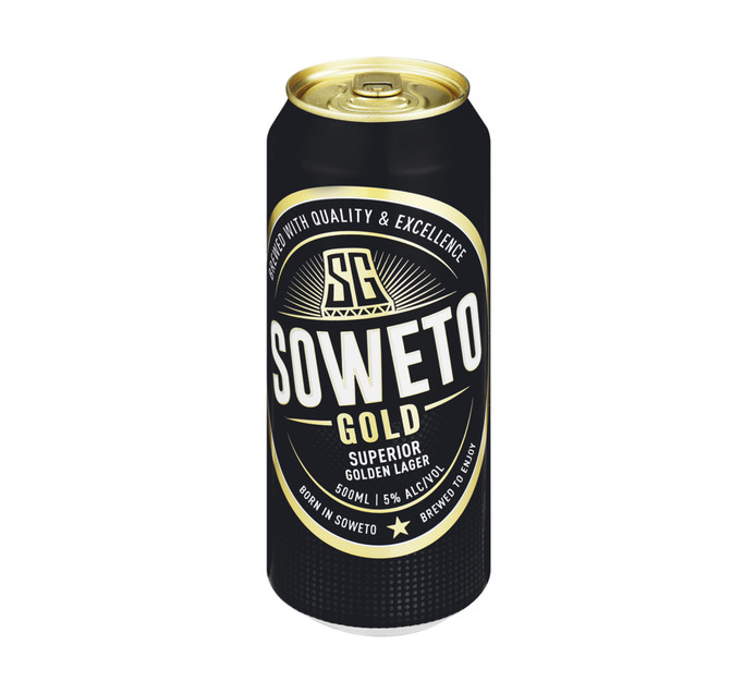 Soweto Gold Lager Can (24 x 500ml)