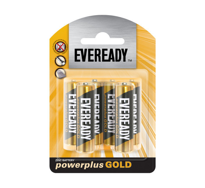 Eveready Power Plus Gold AA 6-Pack