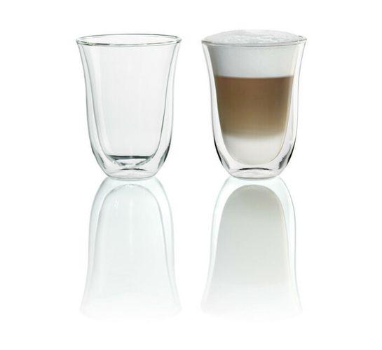 DELONGHI 220ML LATTE GLASS SET