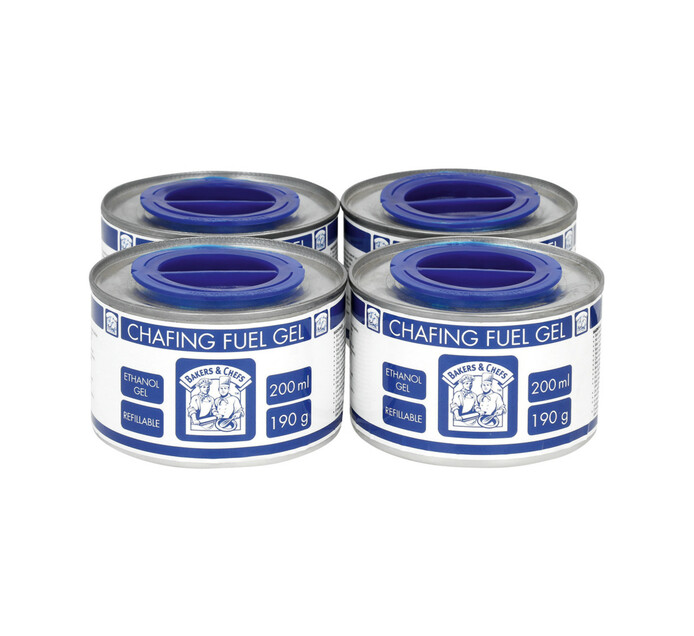 Bakers & Chefs 200 ml Chafing Fuel Gel 4-Pack