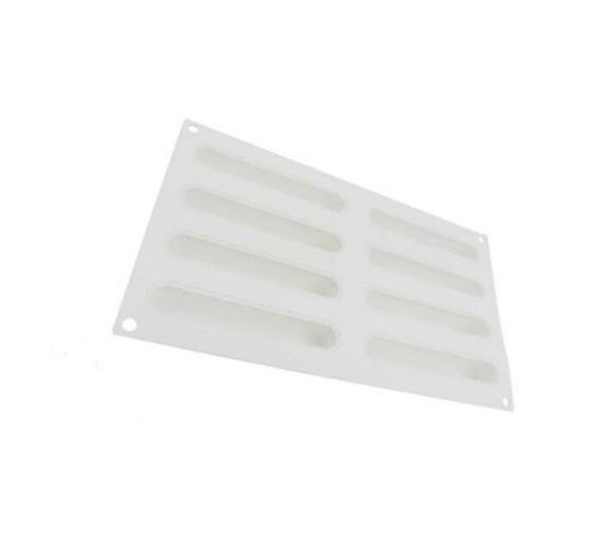 Killerdeals 8 Cavity Snack Bar Silicone Baking Mould - White