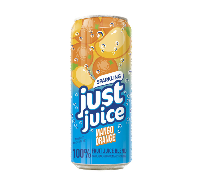 JUST JUICE Sparkling Fruit Juice Mango/Orange (24 x 330ML)