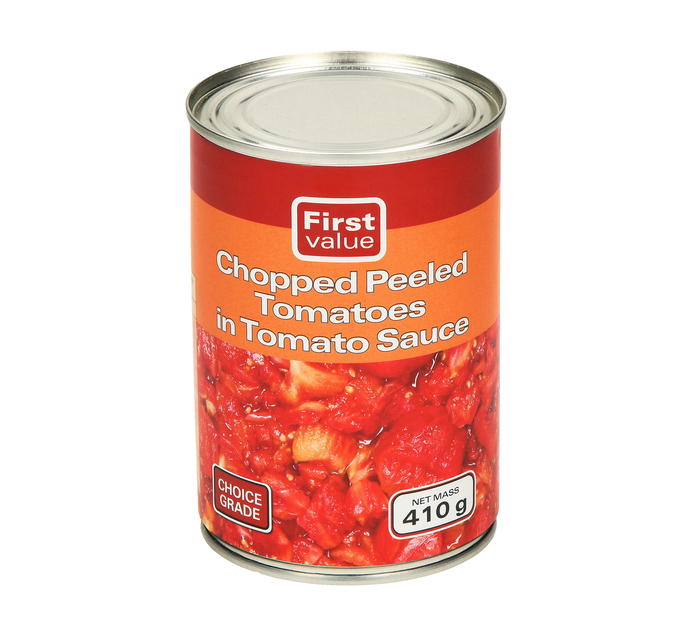 First Value Tomato Chopped Peeled (1  x 410g)