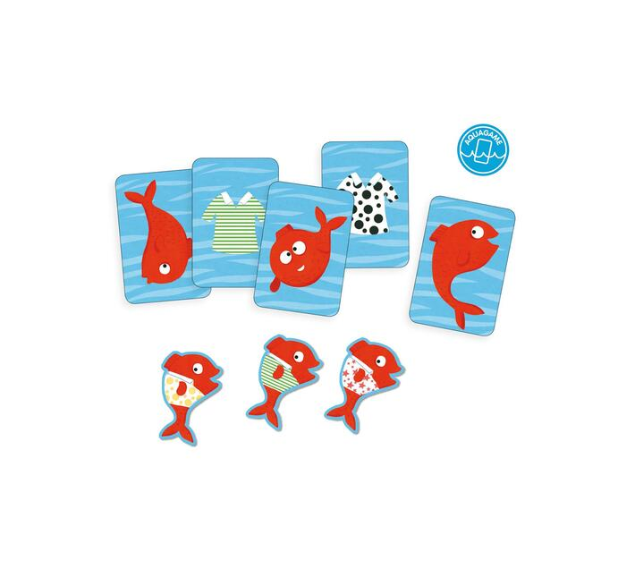 Djeco Card Game for Observation and Speed- Spidifish: Bath Time Fun!