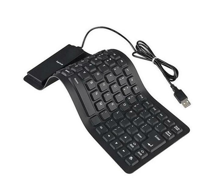 DW-Flexible USB Keyboard Silicone - Black