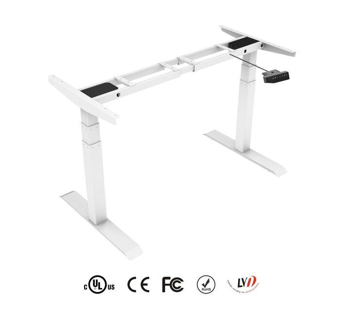 TekDesk 2.0 - Height Adjustable Electronic Standing Desk (White Frame only)