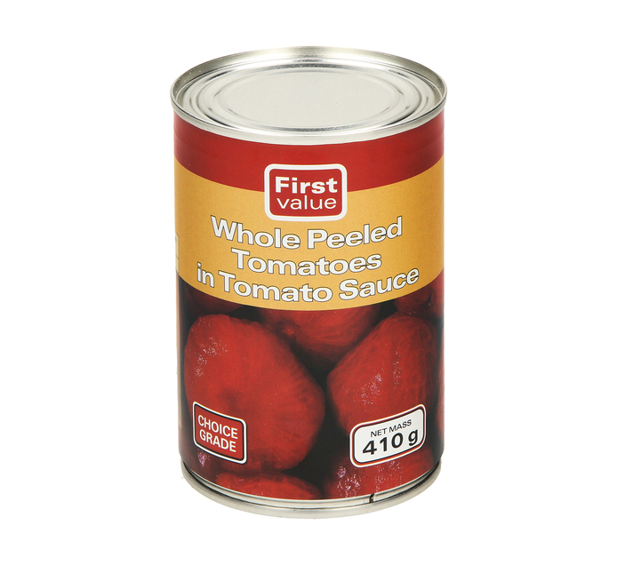 First Value Tomatoes Whole Peeled (1  x 410g)