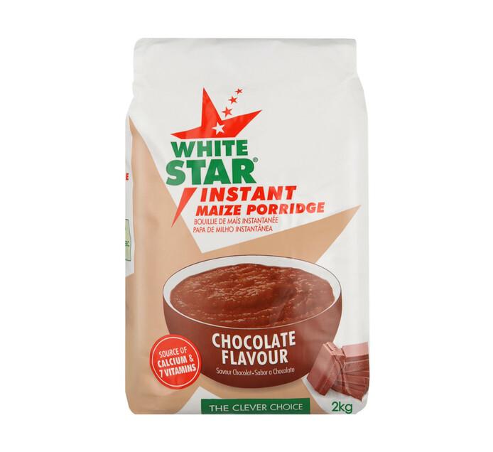 White Star Instant Maize Porridge Chocolate (4 x 2kg)