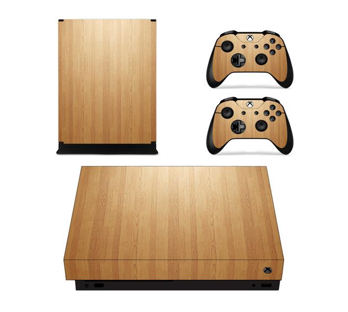 SKIN-NIT Decal Skin For Xbox One X: Cherry Wood