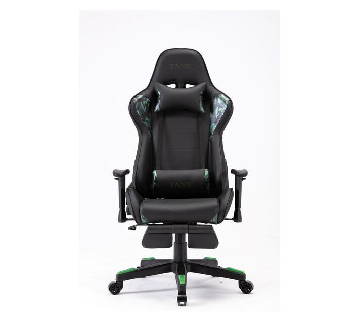 Tank Gaming high back chair with footrest