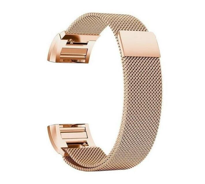 Zonabel Fitbit Charge 2 Milanese Strap - Rose Gold (Large)