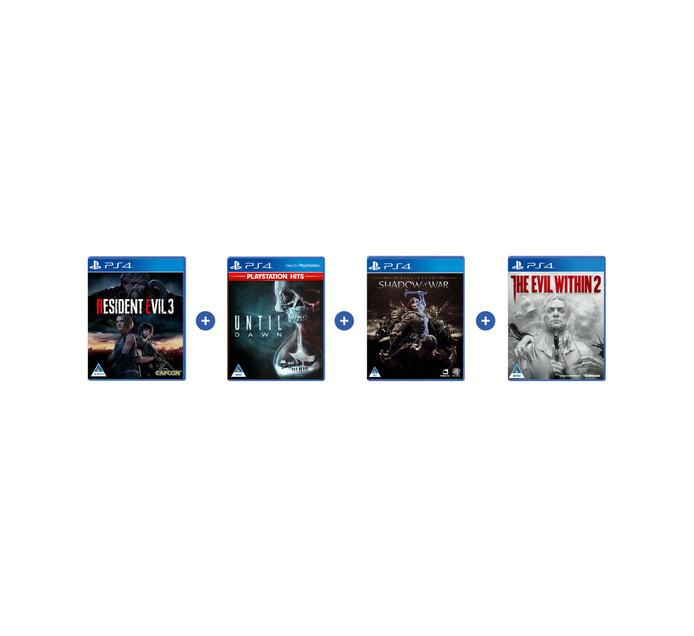 PS4 4 Pack Software Bundle Ps4