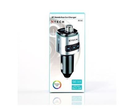 Ntech Bluetooth Hands-free Kit with FM Transmitter