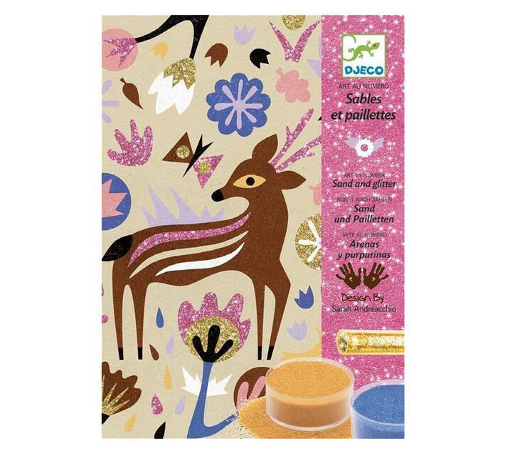 Djeco Sand and Glitter Art Box- Woodland Wonderland