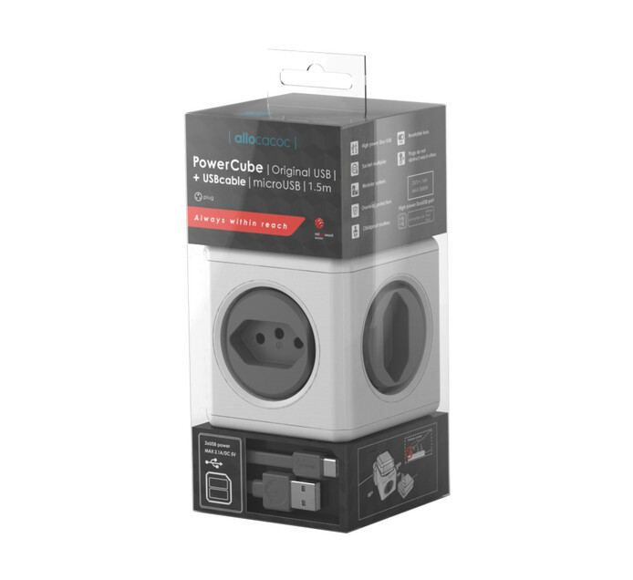 Allocacoc Powercube multiplug plus android usb cable