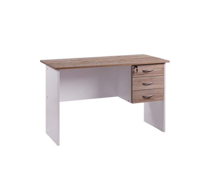 Linx Solitude 1200 work desk + 2 drawers Sanremo oak and whIte