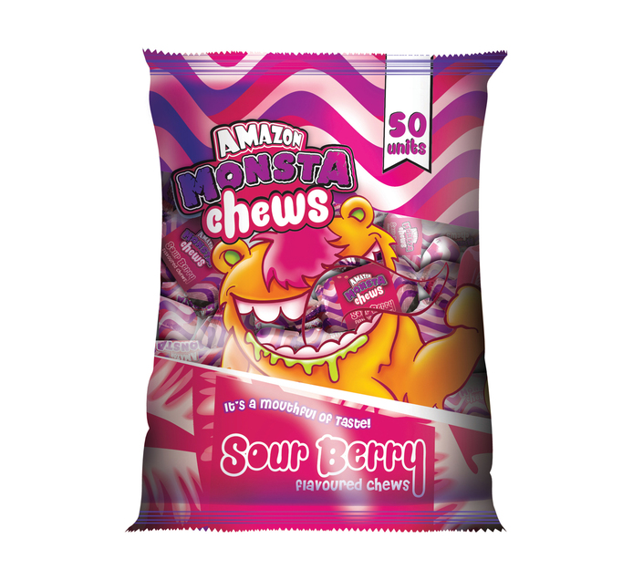 Amazon Monsta Chews Sour Berry (50's)