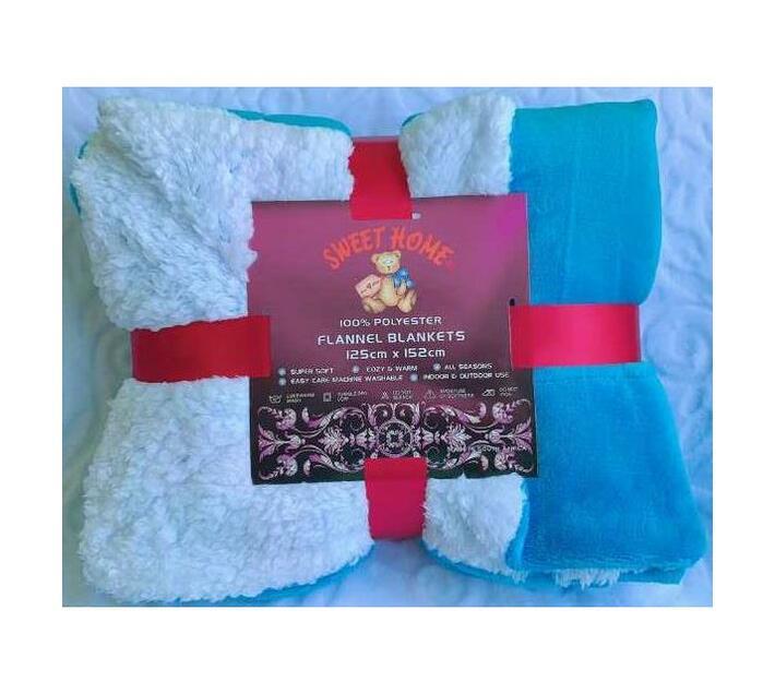 Single Sherpa Flannel Blanket