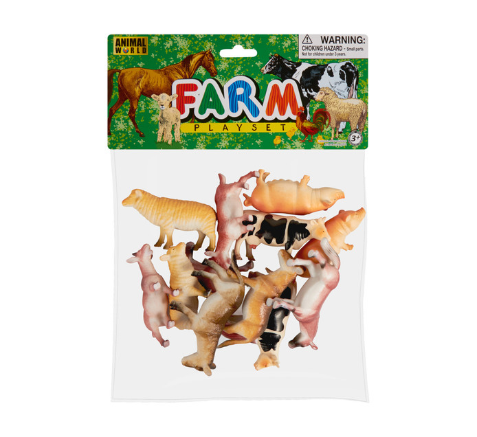 12-Pack Farm Animal In a Bag