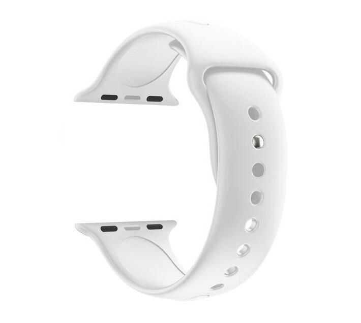 42mm Silicone Apple Watch Strap by Zonabel - White
