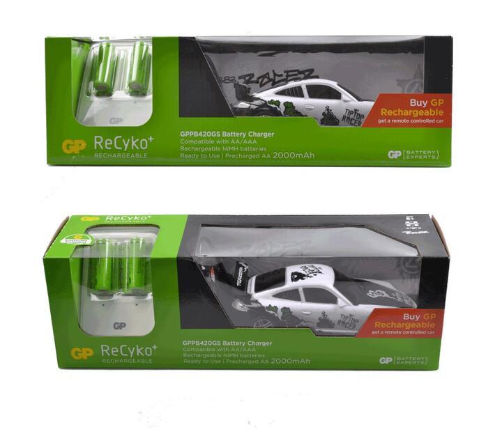 GP Powerbank 420 Including Remote Racing Car & 6 AA 2000mAh NiMh batteries